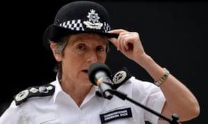 Metropolitan police commissioner Cressida Dick.