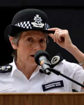 Cressida Dick, who says she is 'very much in favour' of stop and searches.