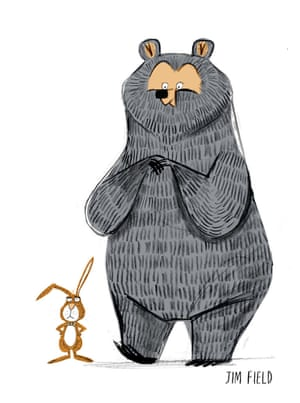 "Jim Field: 'Julian suggested making Bear more of a mother character, actually his description was more ""a Big Mumma"" so I made her bigger boned and rounded the design more than the previous bears.'"