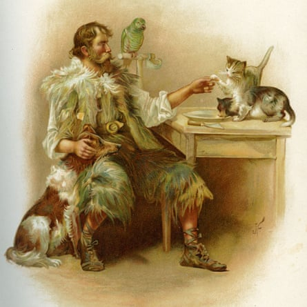 'How like a kind I look'd': illustration, from the 1895 edition, by J Finnemore.