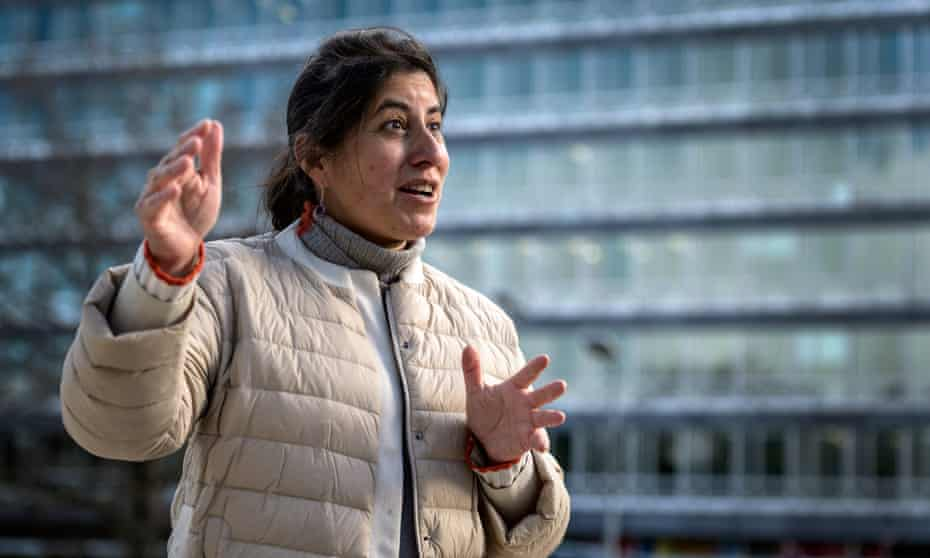 World Health Organization's head of clinical care at the health emergencies programme Janet Diaz answers questions about Long covid during an interview with AFP, on January 29, 2021, in Geneva.