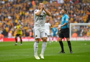 Jonny Otto of Wolverhampton Wanderers reacts after a missed chance