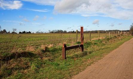 The Marriott's Way footpath, Norfolk.