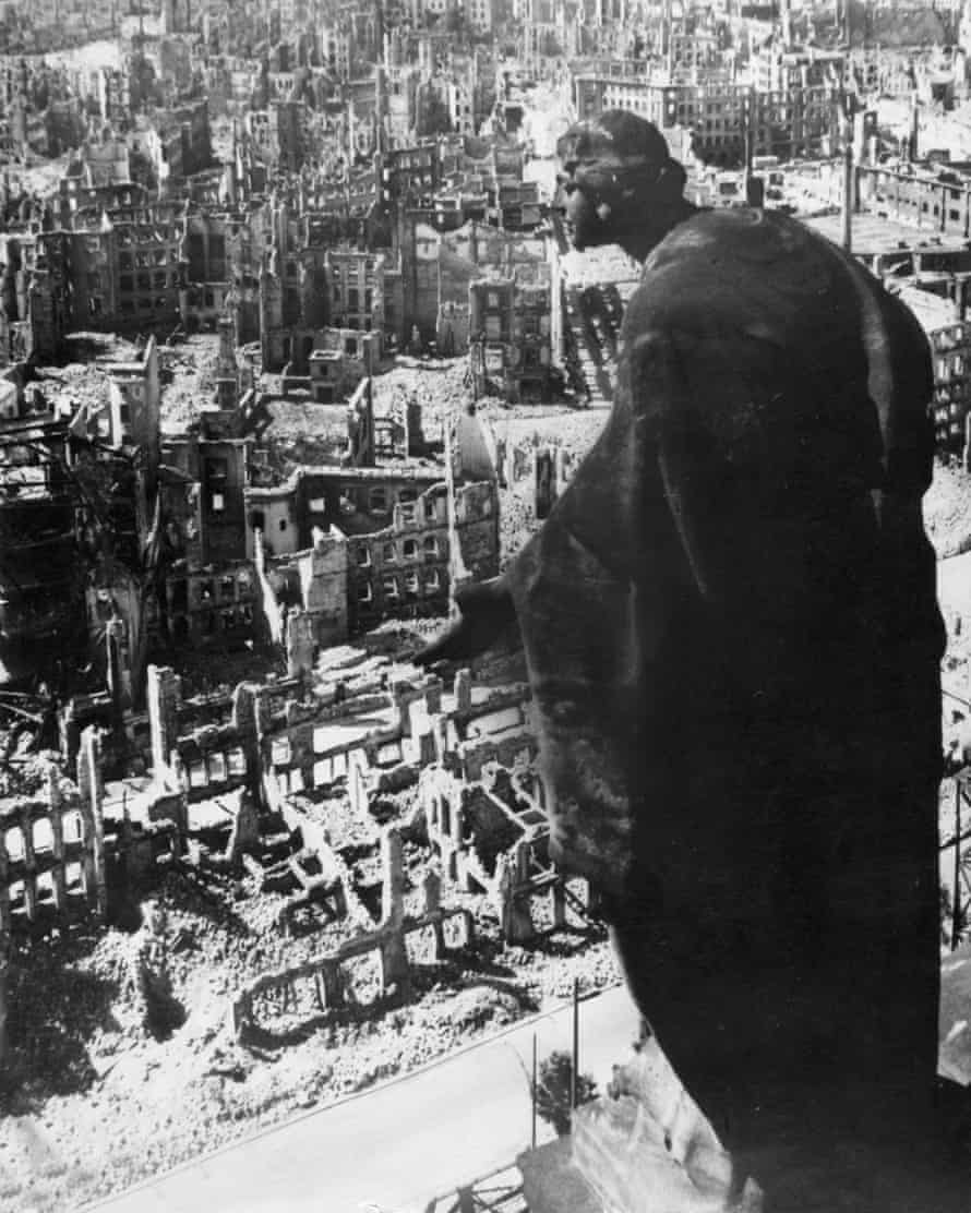 Dresden, Germany in 1945 as seen from the tower of the town hall