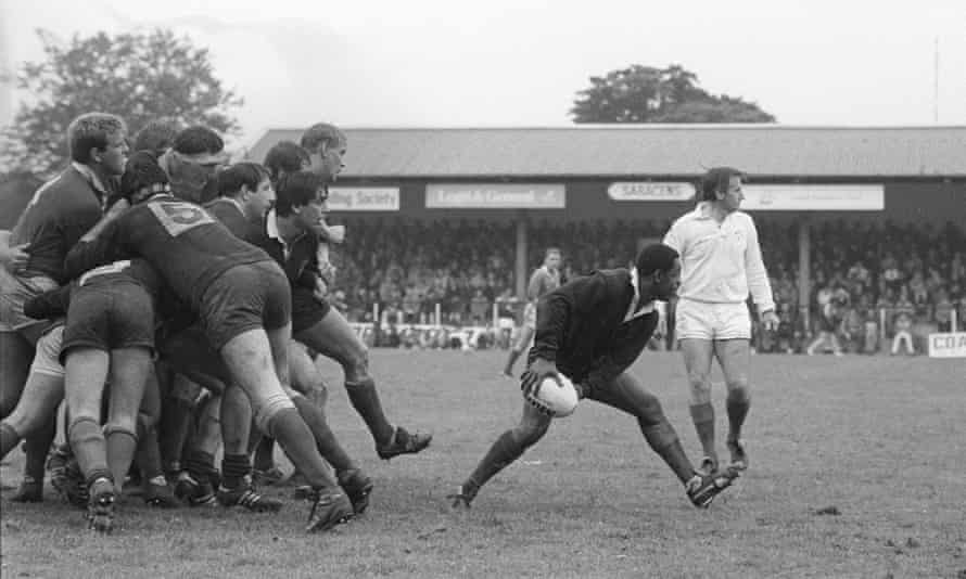 Floyd Steadman competing for Saracens in the 1980s