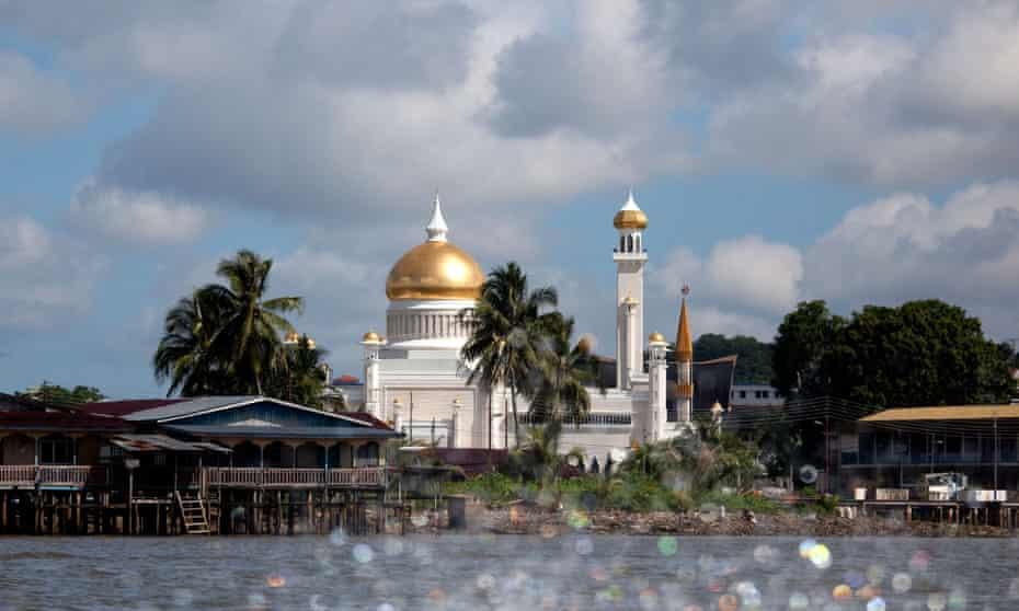 Bandar Seri Begawan Brunei upriver showing the Sultans Palace