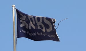 A flag flies above Royal Bank of Scotland in St Andrew Square in Edinburgh.