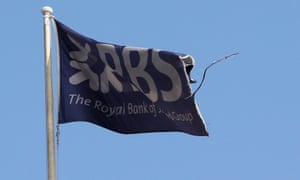 A flag flies above the head office of RBS in St Andrew's Square, Edinburgh.