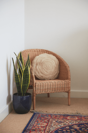 A chair at Joanne's home