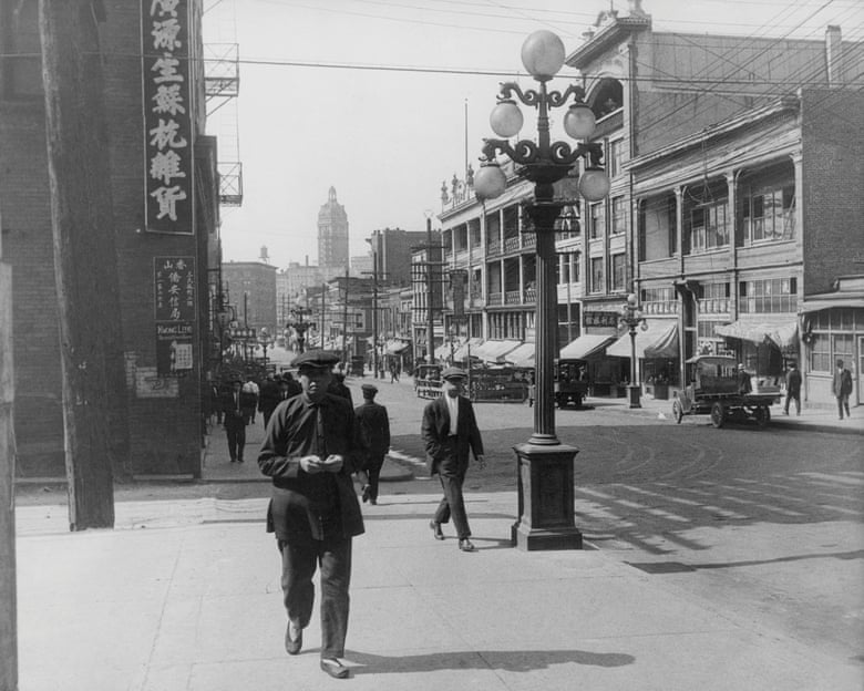 People walking along Pender Street in Chinatown, Vancouver