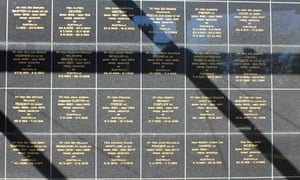 The tall black wall commemorates the tenures of 29 ​out​ of Australia's (now) 30 prime ministers