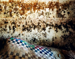 """Wyatt Gallery, Quilt and Mold, New Orleans, LA, April 2006, 30x38"""", Archival pigment ink print, Edition of 5"""