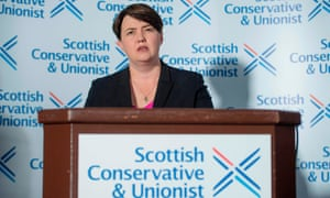 Ruth Davidson announces her resignation as Scottish Conservative leader in Edinburgh on 29 August.