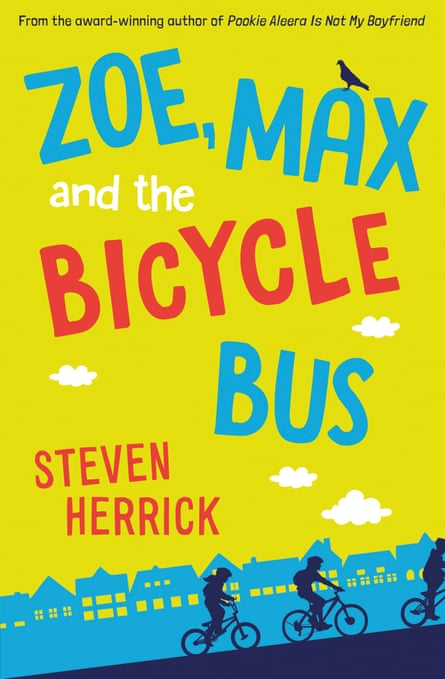 Cover image for the children's book Zoe, Max and the Bicycle Bus by Steven Herrick