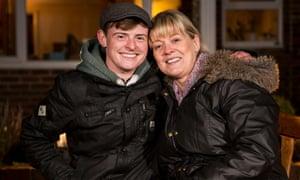 Twenty-year-old Lucas with his mum, Karen
