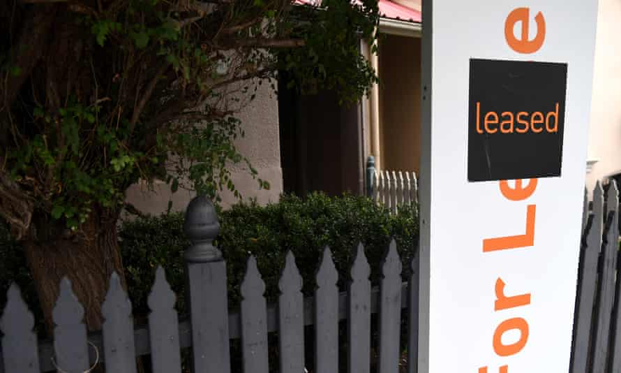 A for lease sign is displayed in front of a house in Sydney on April 26, 2017.