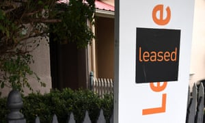 A 'leased' sign outside a property