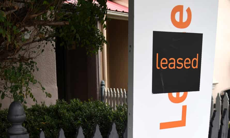 Lease sign outside a Sydney home