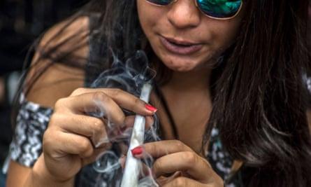 Someone smoking