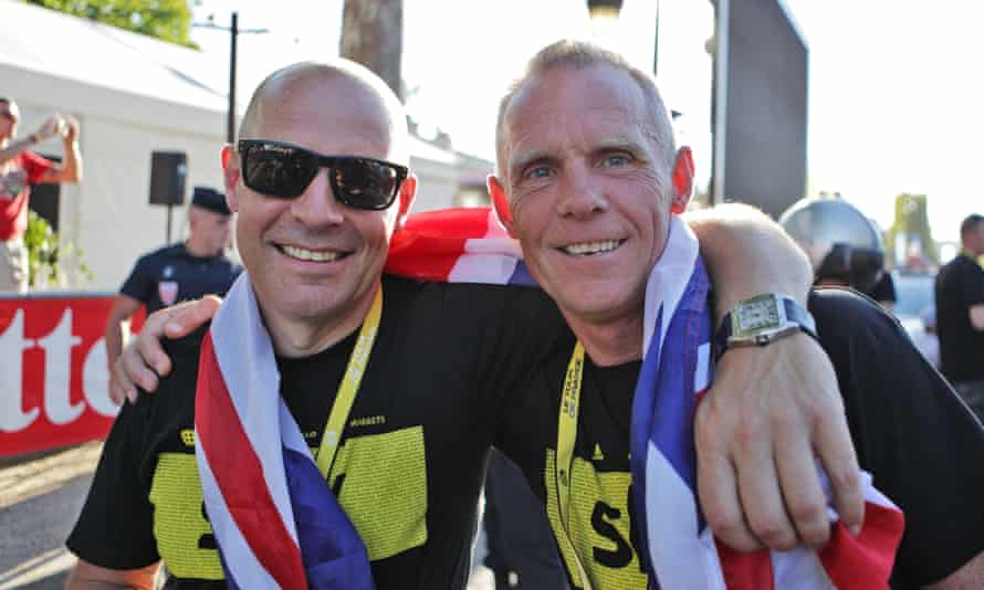 Dave Brailsford  and Shane Sutton of British Cycling
