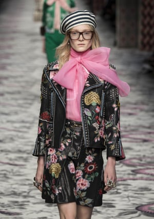 'Geek chic' on the Gucci Spring/Summer 2016 catwalk.