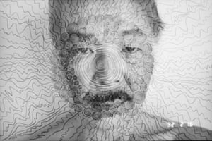 Fukase was born in 1934, in a small town called Bifuka on Hokkaido, Japan's second largest island, where his family owned a photo studio. He moved to Tokyo in the 1950s. This self-portrait, taken in 1992, has again been altered