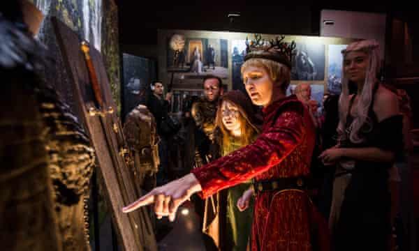 Game of Thrones fans at a 2015 exhibition for the show in London.