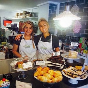 Sisters Camilla (right) and Courtney Dignan, who set up, own and run the Bridge Bakehouse, Whalley Bridge, Derbyshire, UK.