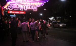 Kings Cross red light district in Sydney