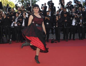 Actress Rossy de Palma poses for photographers upon arrival at the opening ceremony and the screening of the film Ismael's Ghosts
