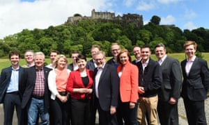 Ruth Davidson and Scottish Conservative MPs in 2017.