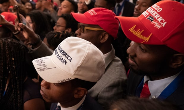 Why is that racist   Trump greets young black leaders with ... 5bdc273a0789