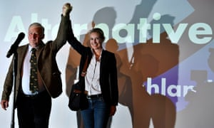 Germany's Alternative for Deutschland party, which has far-rightwing policies and a gay co-leader in Alice Weidel (right)