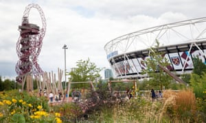 A view of plants at the Queen Elizabeth Olympic park