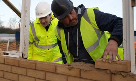 George Osborne at a new housing development in Essex.