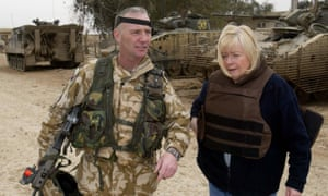 Ann Clwyd, right, with Regimental Sergeant Major Terry Harman in Iraq.
