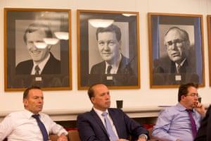Tony Abbott, Peter Dutton and James McGrath