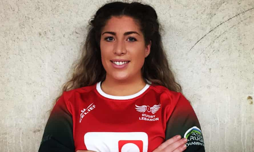 Hannah al-Khaldi pictured before a match for Lebanon's national team. Khaldi suffered a serious head injury playing in top flight of domestic women's rugby.