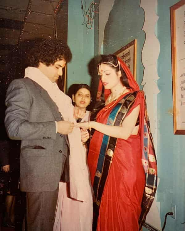 Roop and Loretta wed in the Hindu temple in Queens, 1981.