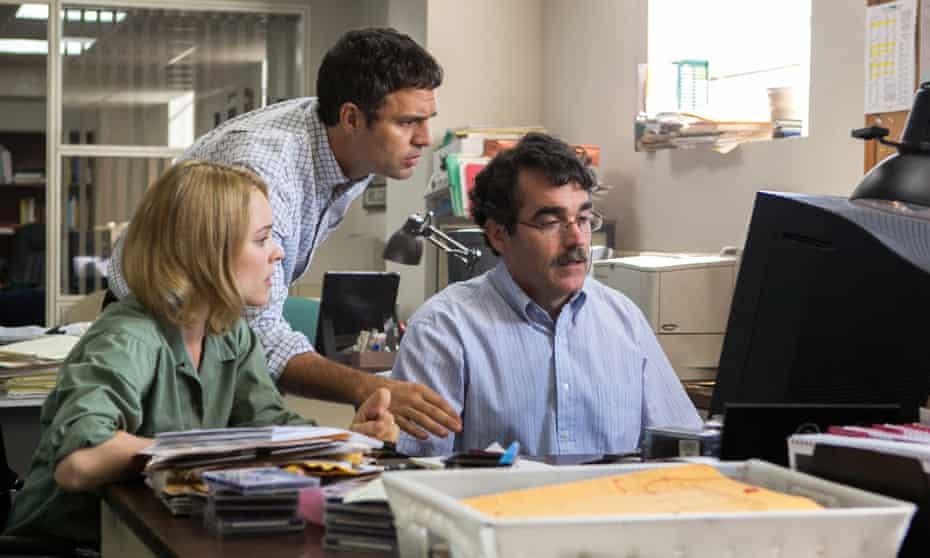 Rachel McAdams, Mark Ruffalo and Brian d'Arcy James in Spotlight