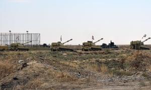 Iraqi tanks near Kirkuk
