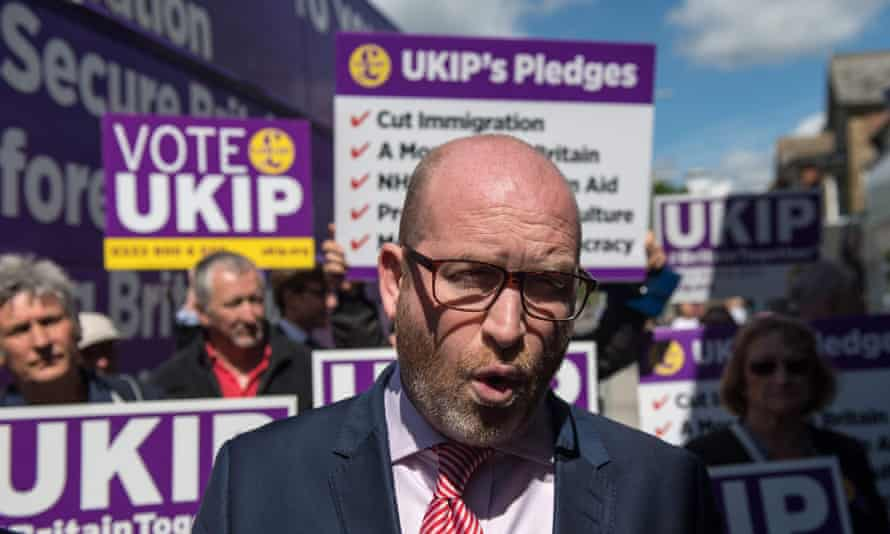 Ukip leader Paul Nuttall campaigning in Clacton-on-Sea.