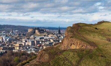 View of Edinburgh city from Arthur's Seat
