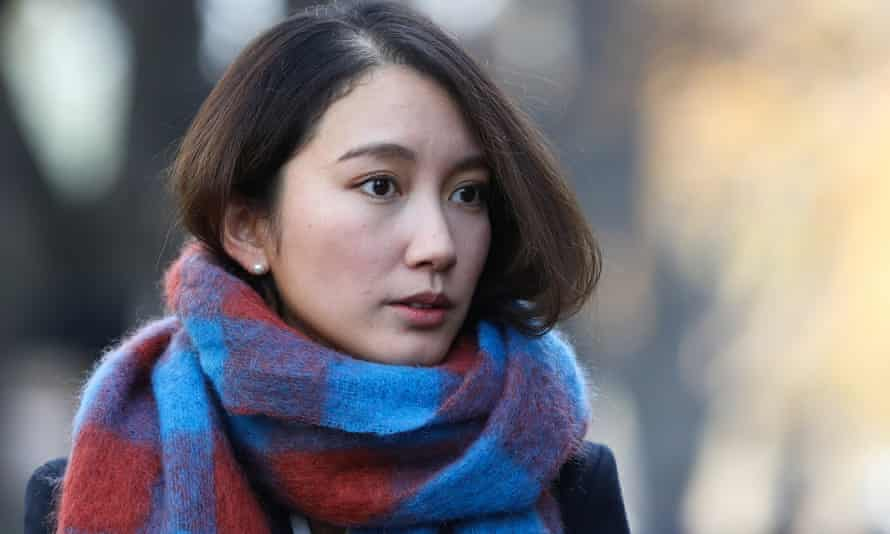 Japan's Shiori Ito arrives at the Tokyo district court where she won damages in a civil suit alleging she was raped.