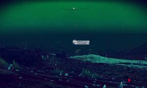 screengrab of ship in air