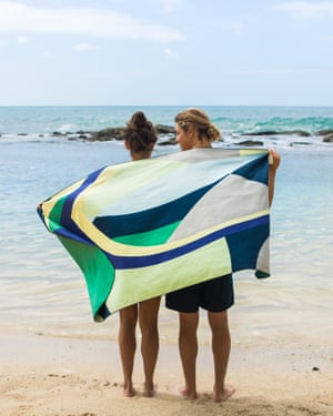 Home and dry Anaskela's lightweight travel towels are constructed using fibres from recycled PET bottles. The company also organises beach clean ups. £49, anaskela.com