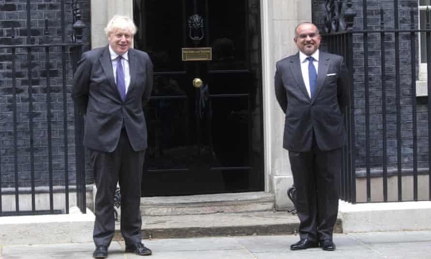 Boris Johnson with Salman bin Hamad al-Khalifa in Downing Street