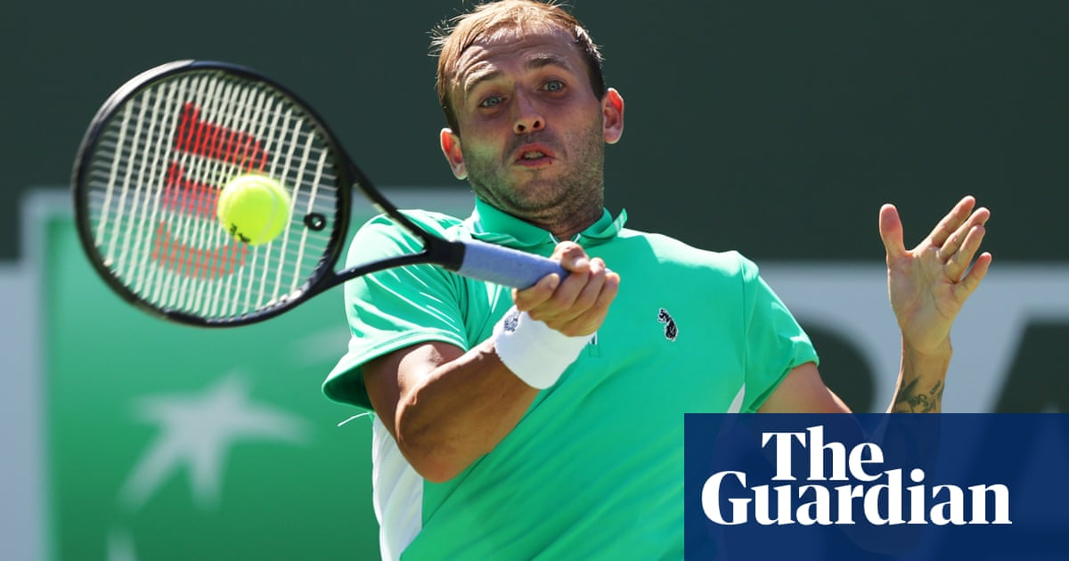 Dan Evans squanders strong position as he crashes out in Indian Wells