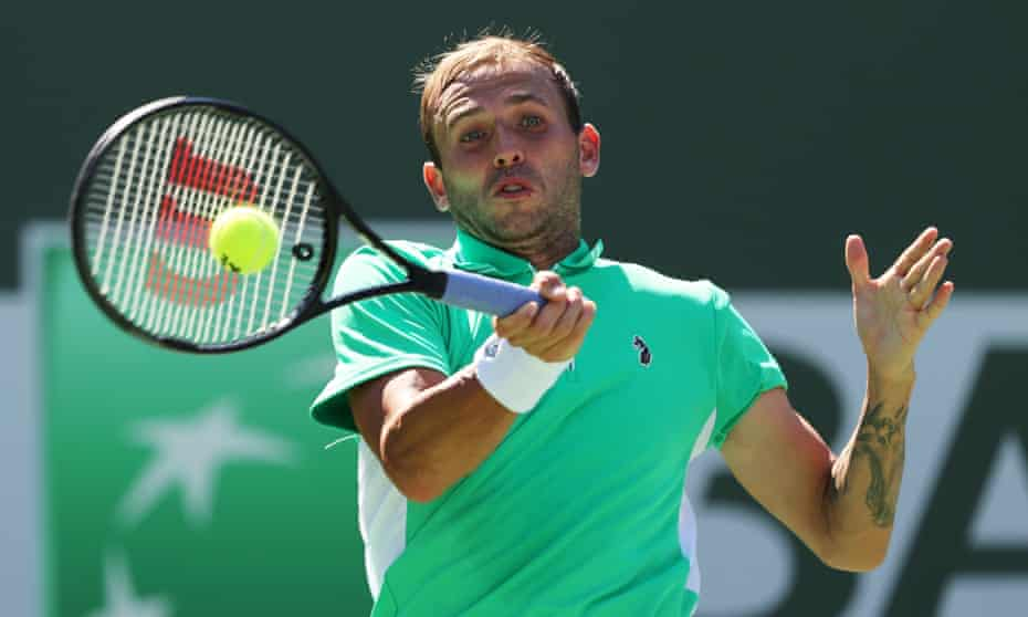 Dan Evans led 4-2 in the second set before losing the next 10 games to Diego Schwartzman