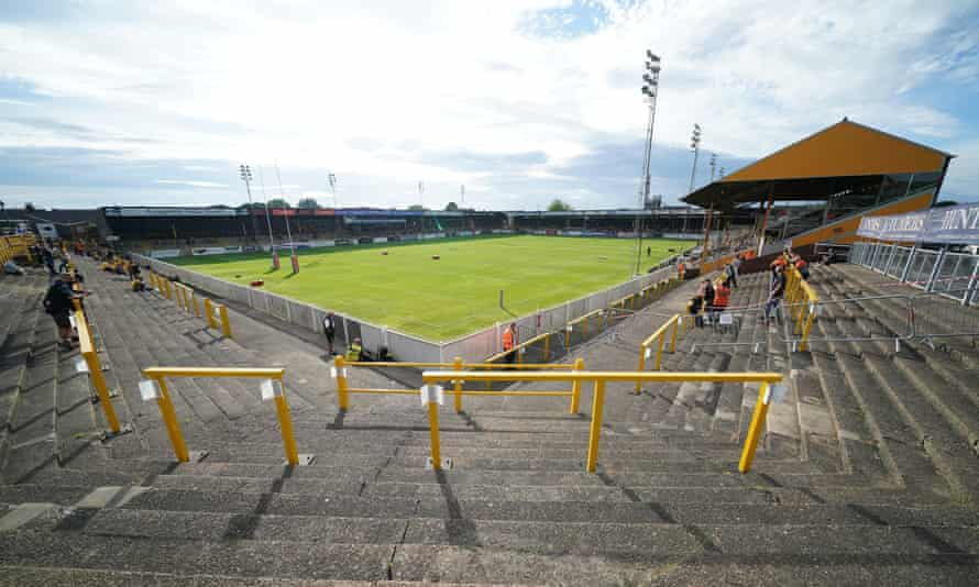 Many of Castleford's players still live close to the club's Wheldon Road ground